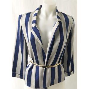 Blue & Grey Vintage Blazer Size 9/10